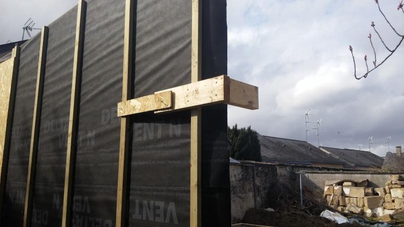 Construction d'un atelier en ossature bois ! - Le Bardage ! 20160319