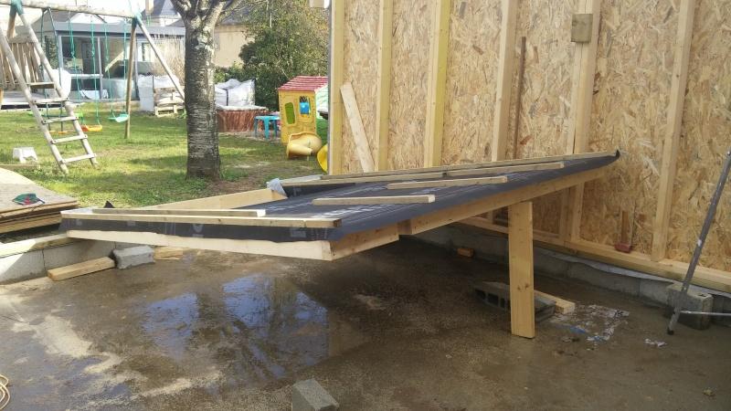 Construction d'un atelier en ossature bois ! - Le Bardage ! 20160327