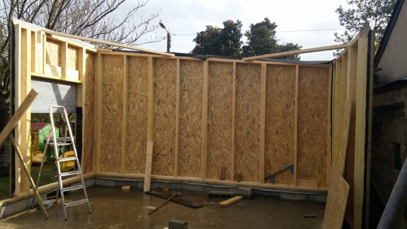 Construction d'un atelier en ossature bois ! - Le Bardage ! 20160328