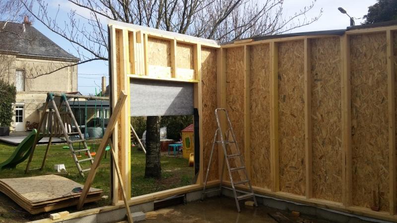 Construction d'un atelier en ossature bois ! - Le Bardage ! 20160329