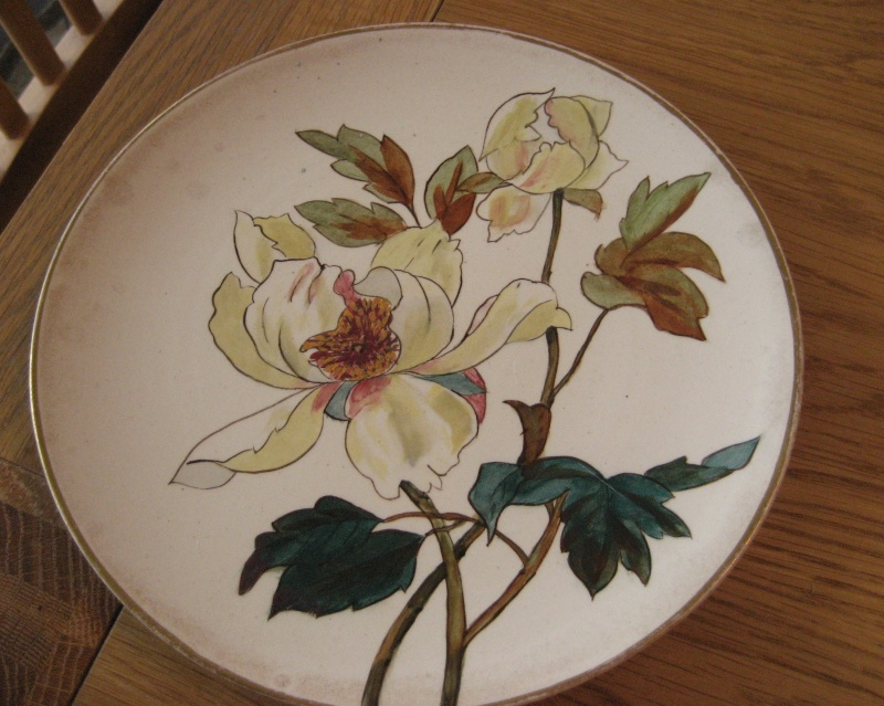 Doulton Burslem Flower Plate Help With Dating And Initials. Img_3216