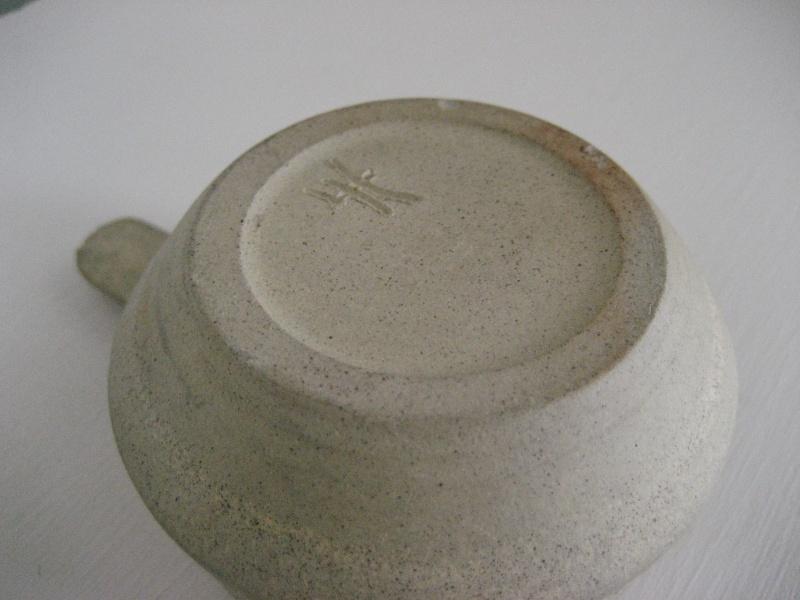 Tiny Single Handled Stoneware Sauce Dish LH? Img_3815