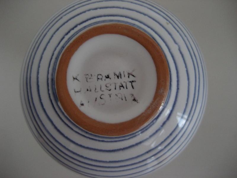 Keramik Hallstatt Vase Blue Stripe Img_3818