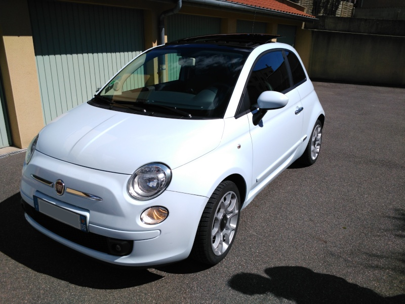 (Fiat 500 - 1.3 Mjet 75 Sport) La voiture a madame!! Img_2023