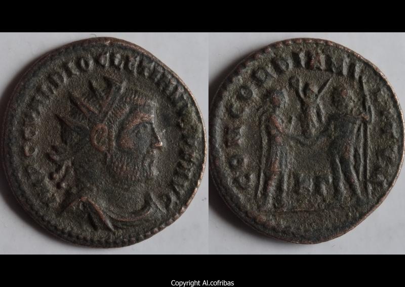 Maximien - Dioclétien, Concordia Militum x2 Diocle11