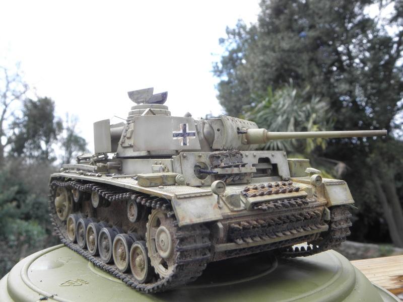 Panzer III Ausf M Dragon 1/35 canon et schürzen en photodécoupe P3280412