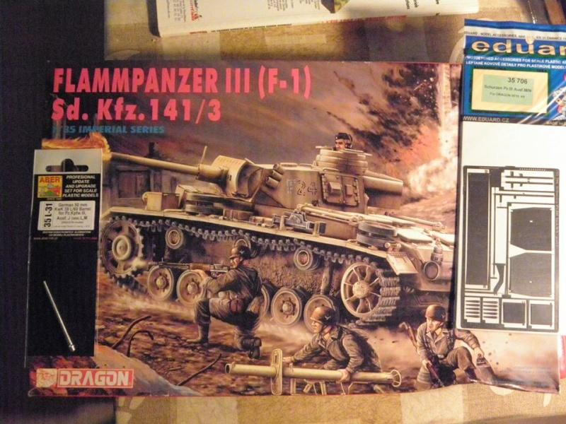 Panzer III Ausf M Dragon 1/35 canon et schürzen en photodécoupe Panzer10