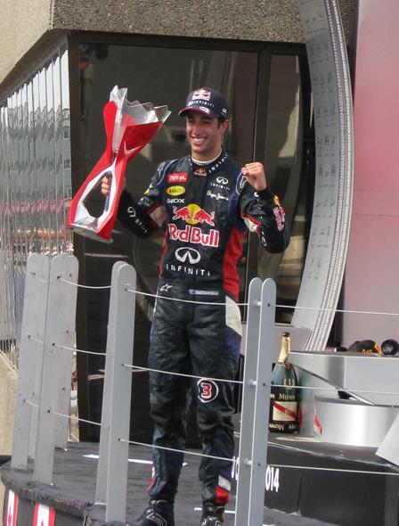 Gagnant GP du canada 2014 Podium10