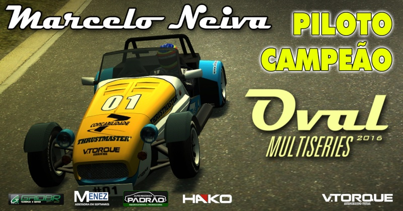 Marcelo Neiva, piloto campeão do Oval MultiSeries Banner12