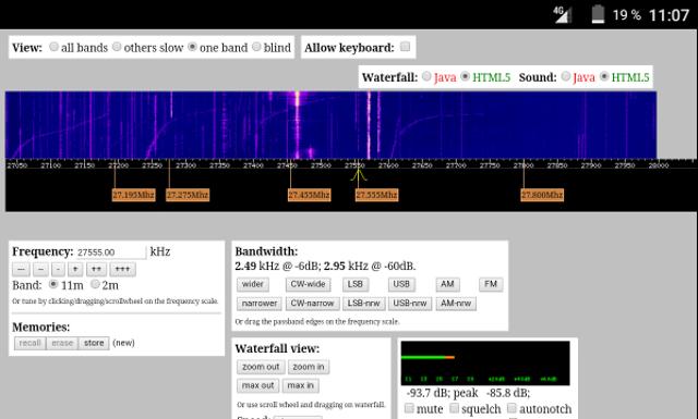 WebSDR 11m + bande déca. (SWL) Screen15