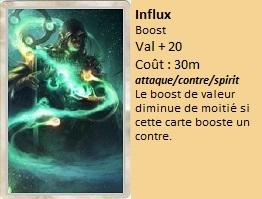 Liste des cartes Illusion Influx10