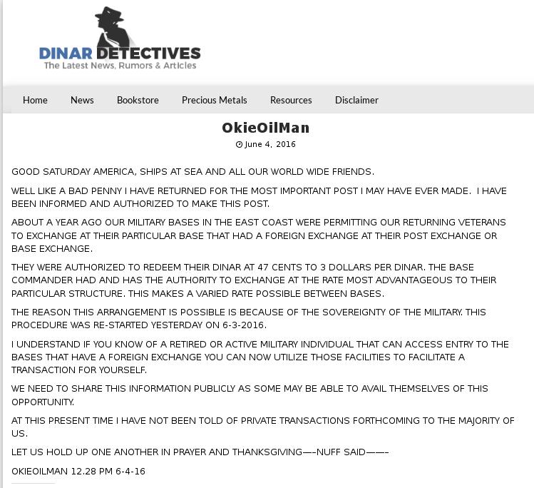 "From Recaps: OkieOilMan Saturday 6-4-16: ""Important Update"" Ddetec10"