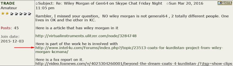 Is Wiley Morgan with the Generals64 group connected to Dinar Inc.? Wiley-12