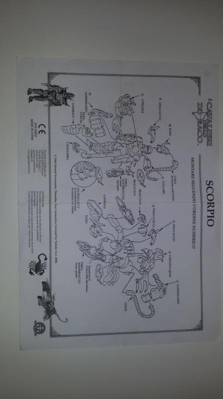 Istruzioni cavalieri dello zodiaco G.P. 2000 scambio 20160102