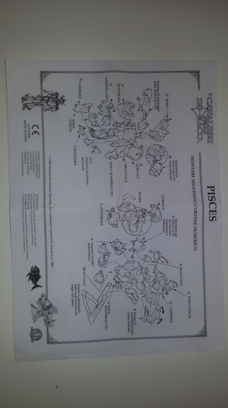 Istruzioni cavalieri dello zodiaco G.P. 2000 scambio 20160103