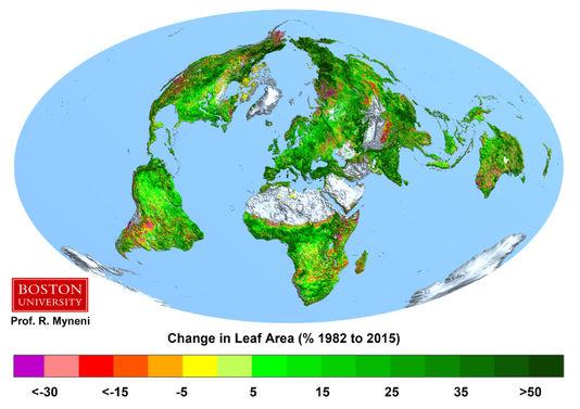 La Terre verdit grâce aux émissions de CO2 49092710