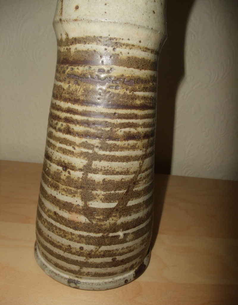 Tall 'Totem' Floor Vase Signed G? E Ray, TH.E. and 741 Dscf1014