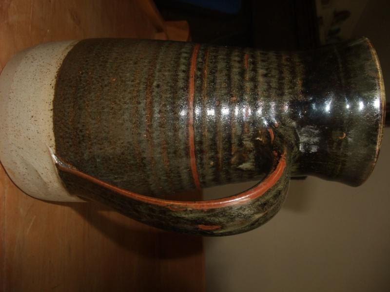 Tall stoneware jug with AB. mark - Alan Beastow? (Not Alan Brough)  Dscf1123