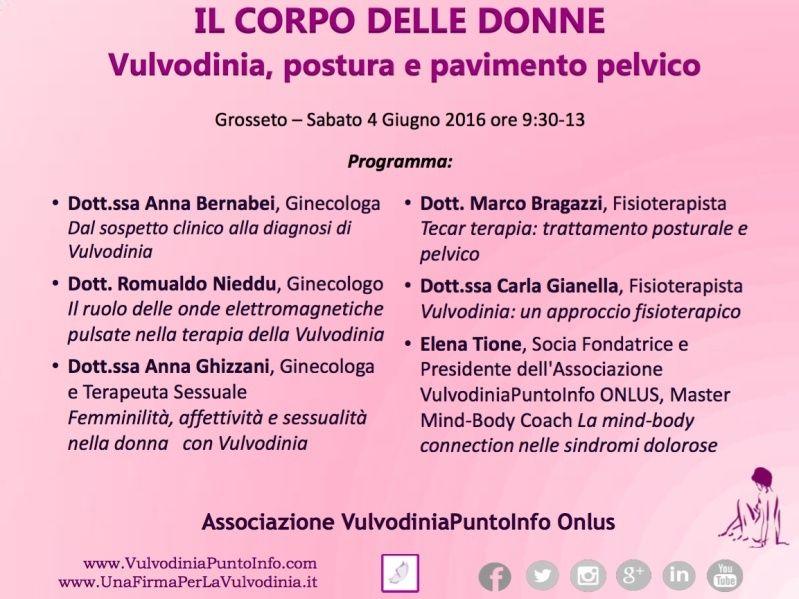 4/6 GR OPEN DAY VULVODINIA | IL CORPO DELLE DONNE, Grosseto, Ordine dei Medici Progra10