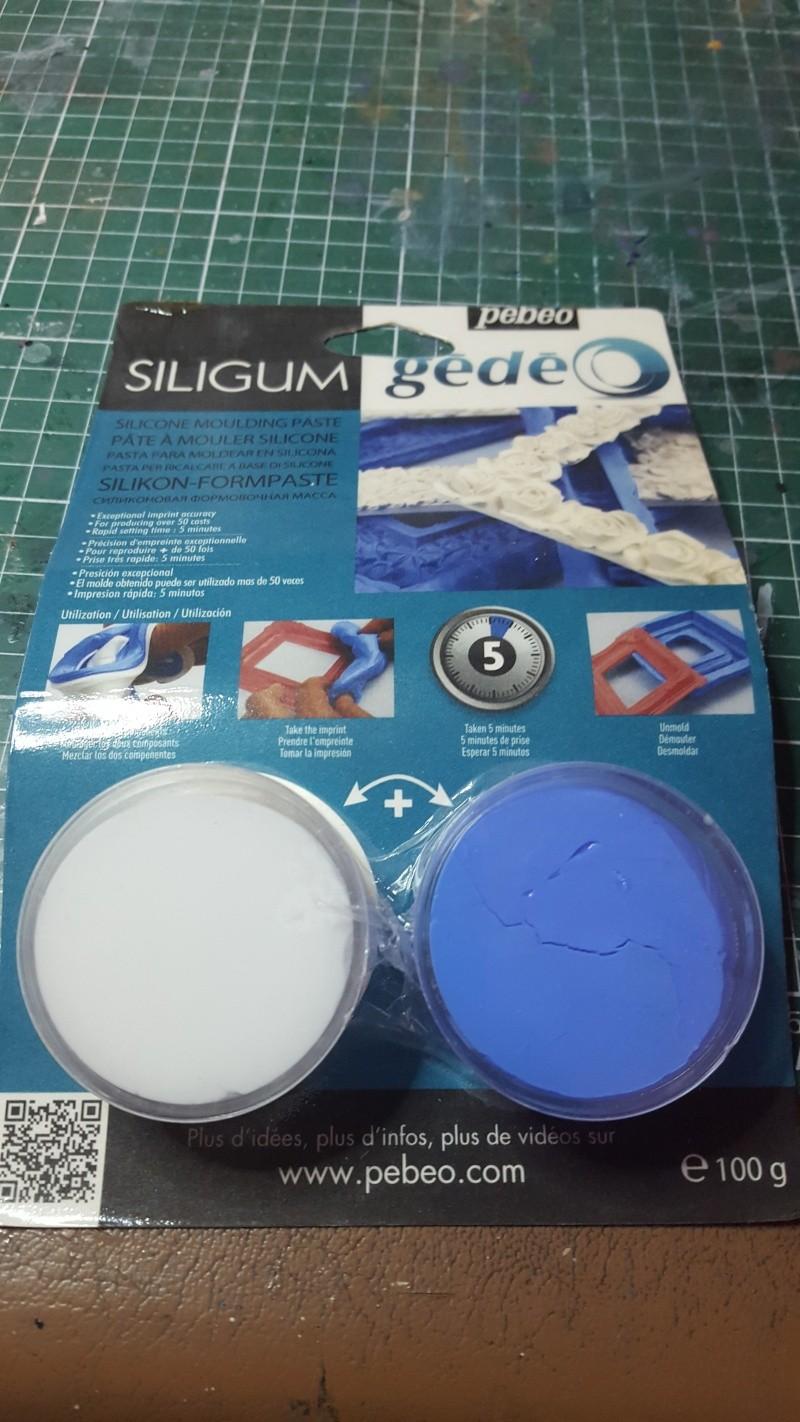 Empreinte de petites pièces avec du Siligum 20160414