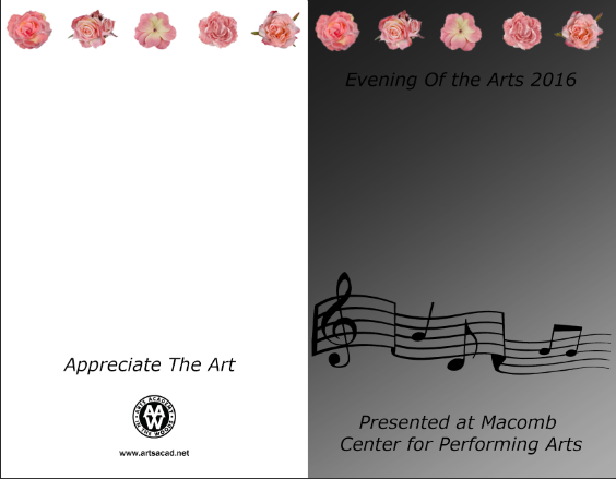 Assignment 8: (2nd, 5th and 6th hours): Evening of the Arts program cover due 3/23 Llllll11