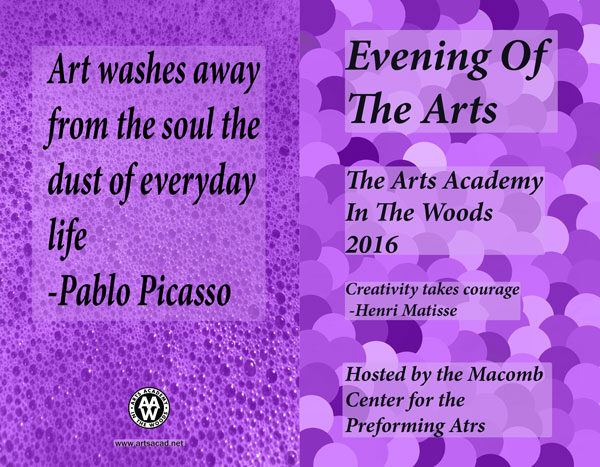 Assignment 8: (2nd, 5th and 6th hours): Evening of the Arts program cover due 3/23 - Page 3 Evenin11