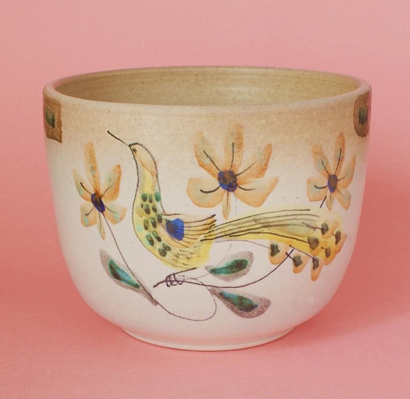 Pottery Planter: Possibly  Mediterranean - Italian - American? Dsc01910