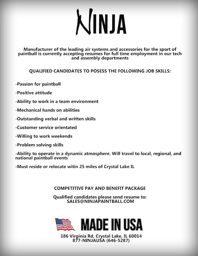 Ninja Job Opportunity / Offre d'emploi (IL / USA) Ninjaj10