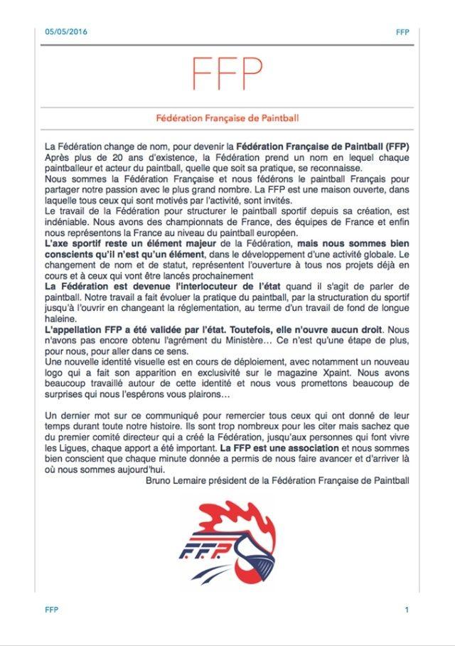 FFP: Fédération Française de Paintball Peffp10