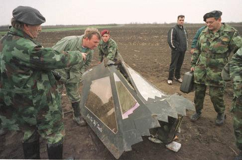 1999 F-117A shootdown in Yugoslavia F117a117