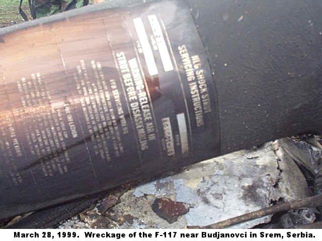 1999 F-117A shootdown in Yugoslavia F117a313