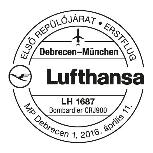 ungarn - Sonderstempel aus Ungarn zu einem Lufthansa-Erstflug Zenge_12