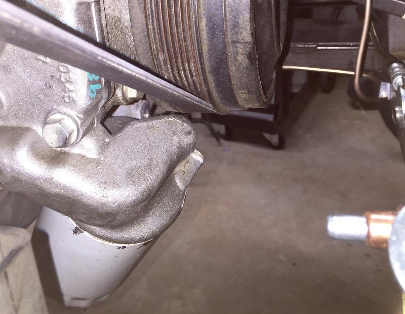 Classic R #27 Build - Alternator, Oil Filter Adapter and Belt Installation Oil-fi11