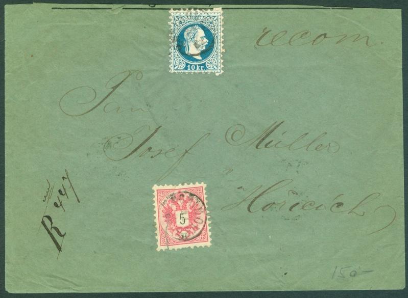 Nachtrag - Freimarken-Ausgabe 1867 : Kopfbildnis Kaiser Franz Joseph I - Seite 12 1883_m10