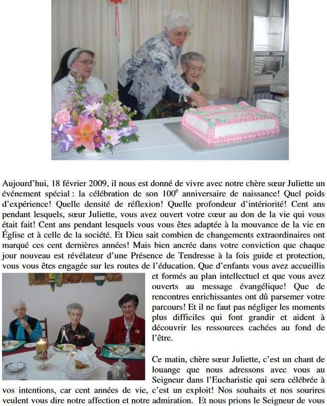 Pourquoi le patronyme Goulet pour Soeur Juliette Godin 100eme10