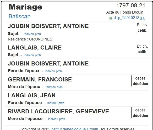 Recherche la famille François Yvan Boisvert Antoin10