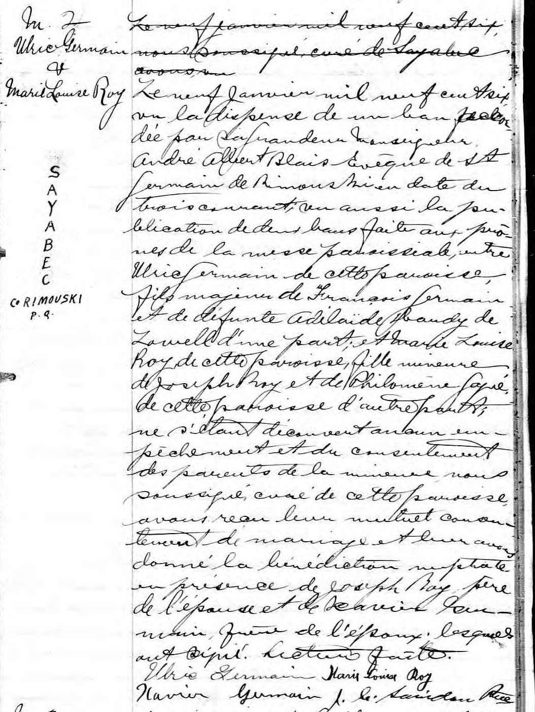 Ulric Germain pendu en 1927 à Rimouski pour le meurtre de son épouse D13p_121