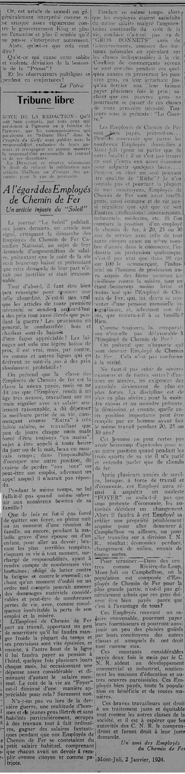 Ulric Germain pendu en 1927 à Rimouski pour le meurtre de son épouse Employ10