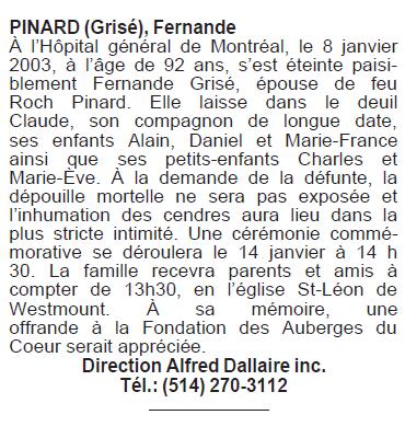 Grisé, Fernande Pinard Fernan11