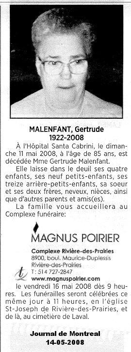 Malenfant, Gertrude Gertru10