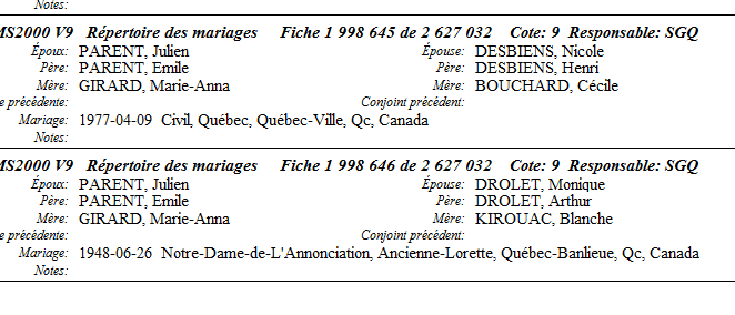 Famille Odilon Bouchard Mariag11