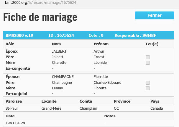 Enfants de Charles Champagne et Fleurette Lemay Mariag13