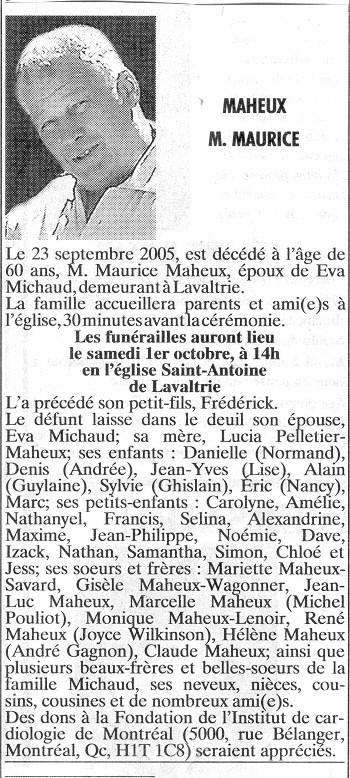 Maheux, Maurice Mauric10