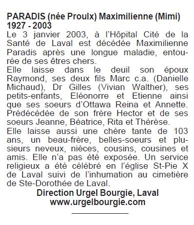 Proulx, Maximiliene Paradis Maximi10