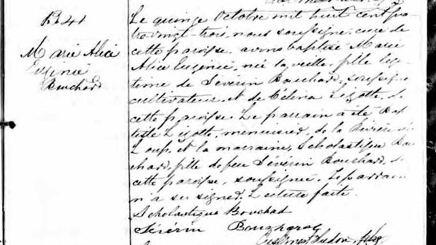 Famille Odilon Bouchard Naissa18