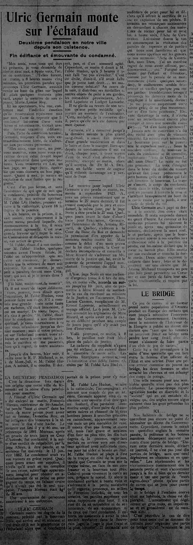 Ulric Germain pendu en 1927 à Rimouski pour le meurtre de son épouse Pendai10