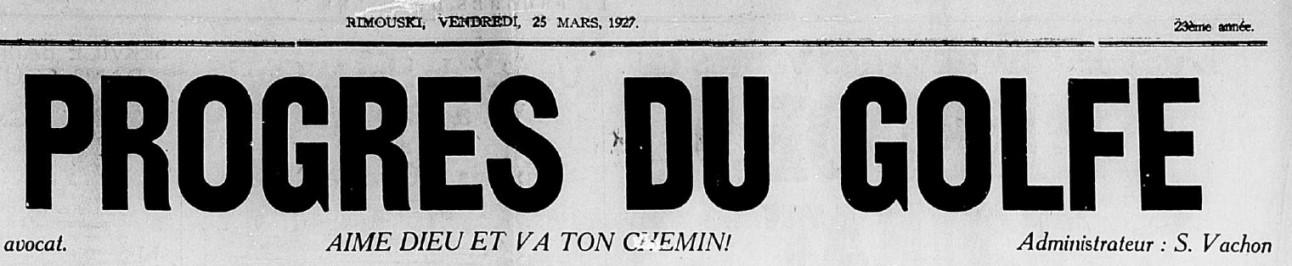 Ulric Germain pendu en 1927 à Rimouski pour le meurtre de son épouse Progre10