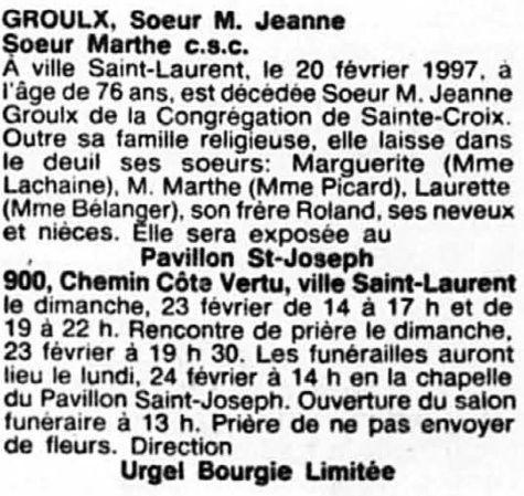 Groulx, Soeur Marie-Jeanne Soeur_13