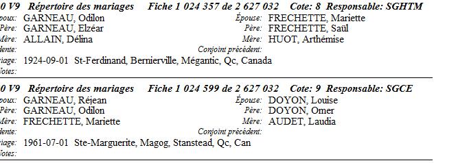 Côté dit Fréchette et qui sont les parents de Brigitte Garneau ? Untitl12