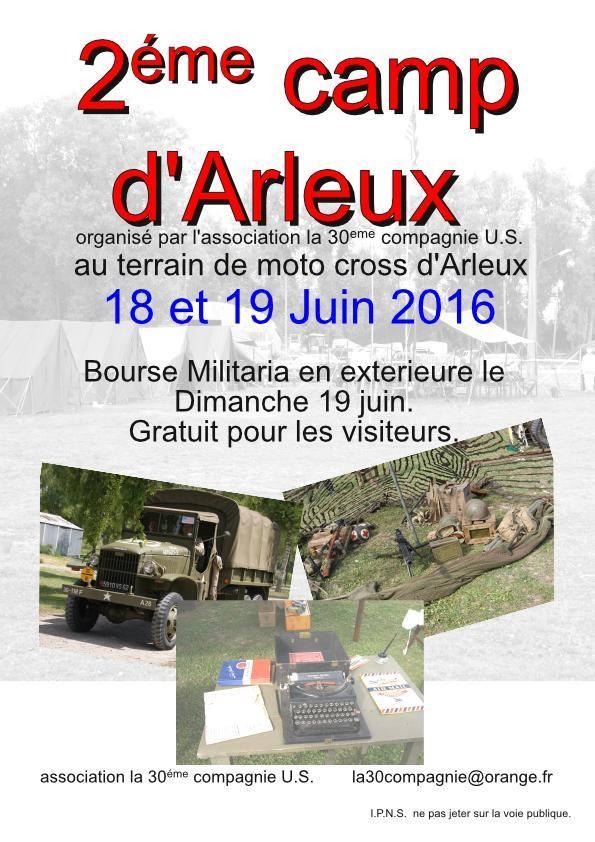CAMP US D'ARLEUX JUIN 2016 Affich10